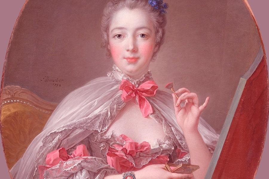 Madame De Pompadour at her boudoir
