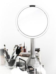 The single best makeup mirror - Simplehuman sensor.